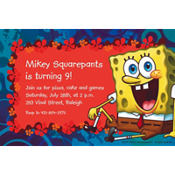 SpongeBob Simply Custom Invitation