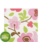 Linen Flower Lunch Napkins 16ct
