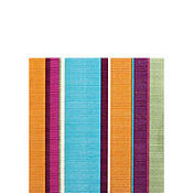 Trendy Stripe Beverage Napkins 16ct