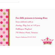 Little Princess Custom Invitation
