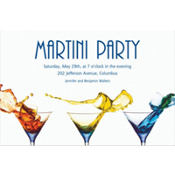 Three Martinis Custom Invitation