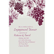 Grape Vine Silhouette Custom Invitation