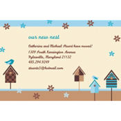 Quaint Birdhouse Custom Invitation