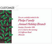 Holly on Black Stripes Custom Invitation