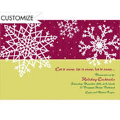 Simple Snowflake Red Custom Invitation