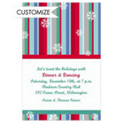 Cool Winter Stripe Custom Invitation