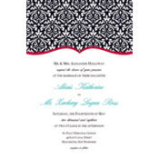 Fancy Finish Red Custom Invitation