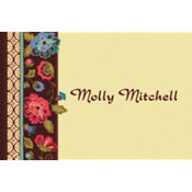 Elegant Jacquard Custom Thank You Note