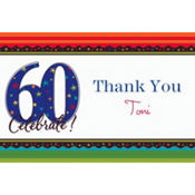 A Year to Celebrate 60 Custom Thank You Note