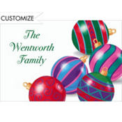 Posing Ornaments Custom Thank You Note