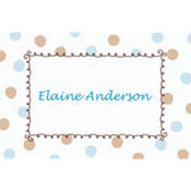 Blue Dots Border Custom Baby Shower Thank You Note