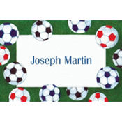 Soccer Ball Border Custom Thank You Note
