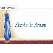 Blue Graduate's Gown on Hook Custom Thank You Notes