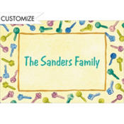 Keys Border Custom Thank You Note
