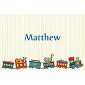 Little Trains Custom Baby Shower Thank You Note