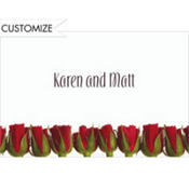 Lovely Roses Custom Valentines Day Thank You Note