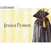 Black Graduation Gown Custom Thank You Notes