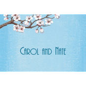 Pink Cherry Blossoms Custom Thank You Note