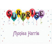 Surprise in Balloons Custom Thank You Note