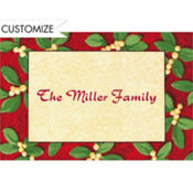Handsome Mistletoe Custom Thank You Note