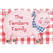 Big Pig Roast Custom Thank You Note