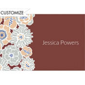 Big Blue Bloom Pattern Custom Thank You Note