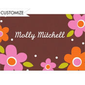 Dancing Pop Flowers Custom Thank You Note