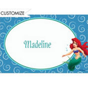 Ariel and Dotted Spirals Custom Thank You Note