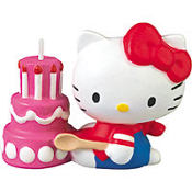 Hello Kitty Cake Candle 2in