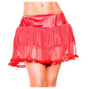 Adult Red PomPom Petticoat