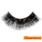 Orange and Black False Eyelashes