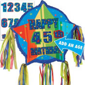 Pull String Personalized Birthday Pinata 16in