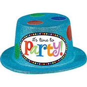 Dots and Stripes Glitter Top Hat