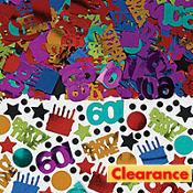 Dots & Stripes 60th Birthday Confetti