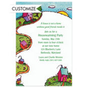 House on the Hill Custom Invitation
