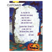 Spooky Tombstone Custom Invitation