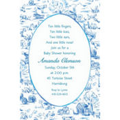 Old MacDonald Toile Custom Baby Shower Invitation