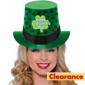 St. Patricks Day Clover Top Hat