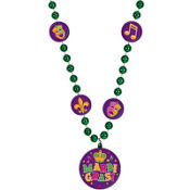 Mardi Gras Bead Necklace 32in
