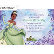 Princess and the Frog Custom Invitation