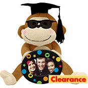 Graduation Autograph Monkey and Photo Frame 8in