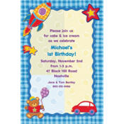 Hugs & Stitches Boy Custom Invitation