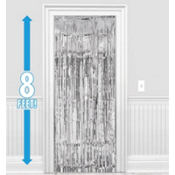 Silver Foil Doorway Curtain 8ft
