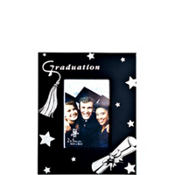 Glittered Black Graduation Photo Frame 2in x 3in