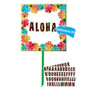 Tropical Flower Yard Sign 15in