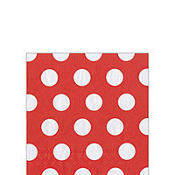 Apple Red Big Dots Beverage Napkins 20ct