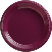 Berry Plastic Dinner Plates 50ct