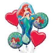 Little Mermaid Balloon Bouquet 5pc