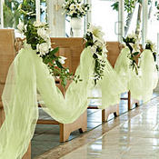 Leaf Green Tulle 65yd x 6in