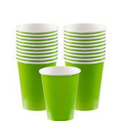 Kiwi Green Paper Cups 20ct